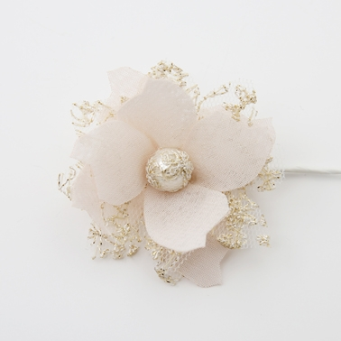 Flower with gold lace